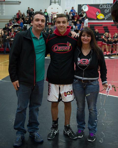 Orting Wrestling Sr Night 2014