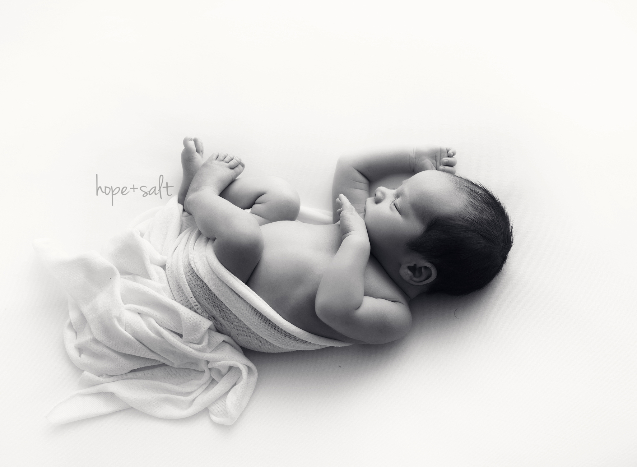 burlington newborn photographer - a natural pure studio baby boy session in a simply style with all winter whites