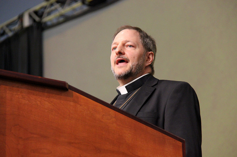Bishop Kurt Kusserow of Southwestern Pennsylvania Synod, brings a greeting on behalf of Region 8.
