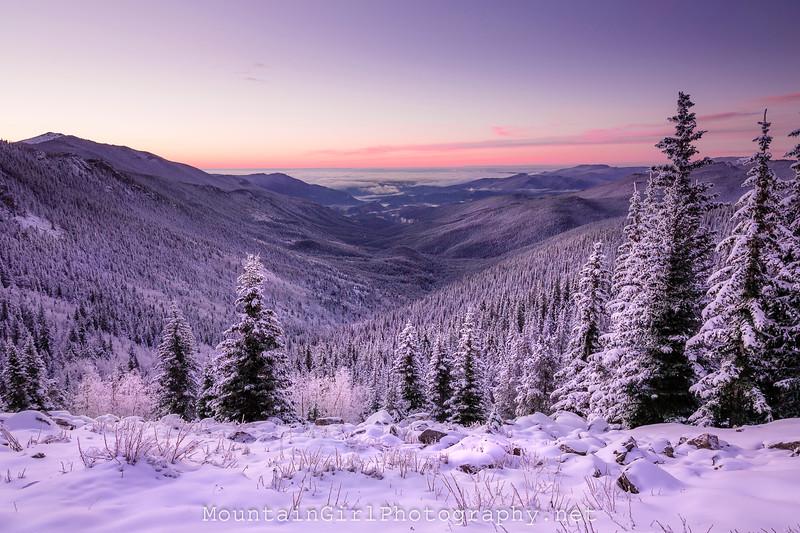 Squaw Pass Winter Sunrise
