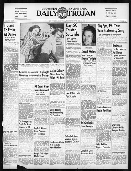 Daily Trojan, Vol. 31, No. 52, November 30, 1939
