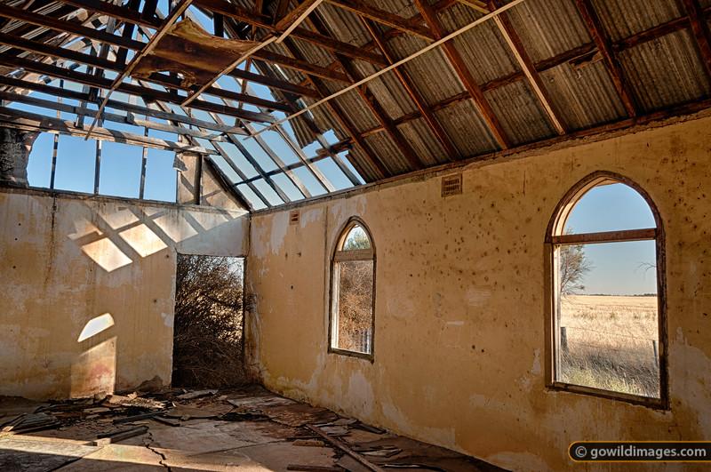 Derelict Terricks Methodist church, rebuilt in 1950, Mount Terrick Road