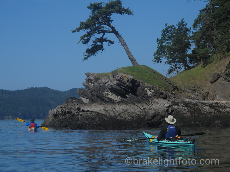 Kayakers at Murder Point, Saturna Island
