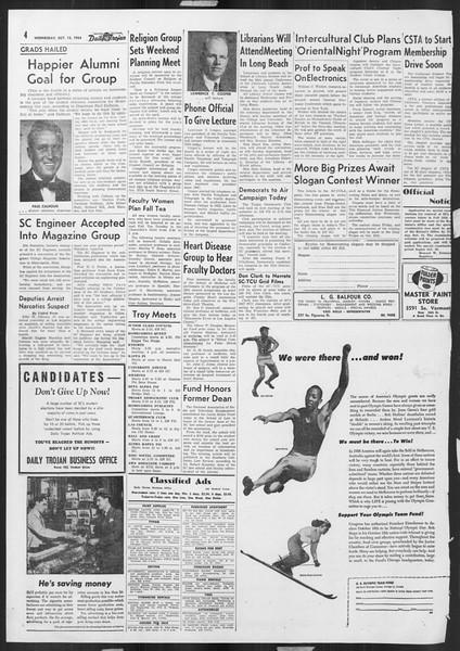 Daily Trojan, Vol. 46, No. 19, October 13, 1954