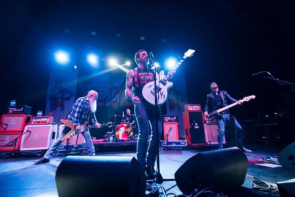 DAVID LIPNOWSKI / WINNIPEG FREE PRESS  Eagles Of Death Metal led by frontman Jesse Hughes perform at the Burton Cummings Theatre Sunday May 1, 2016.