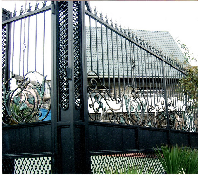 Wrought Iorn fence. Private residence. Russia, Dagomys city 2007