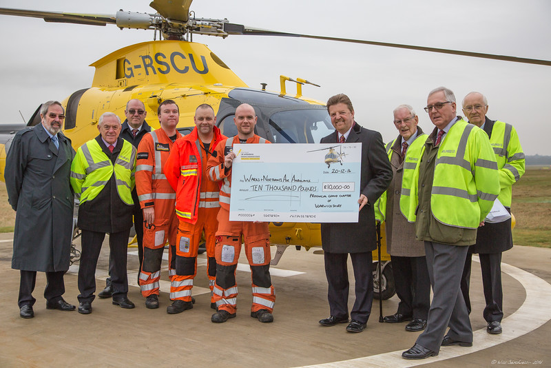 Warwickshire Air Ambulance - Provincial Grand Chapter Of Warwickshire Donation - 19th December 2016