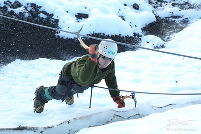 Ice Climbing with Ben and Sam