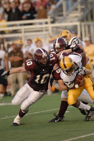 Royal Oak, Michigan,8/31/2006  NIKON D200,300 at 2.8 & 1/640  Birmingham Seaholm vs North Farmington High School Varsity Football