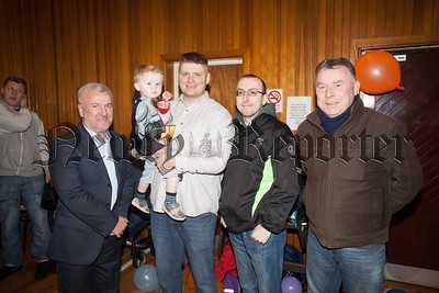 Councillors Davy Hyland and Kevin McAteer pictured with Dan Gebski and Damien McShane from UNITE in the Community. R1606023