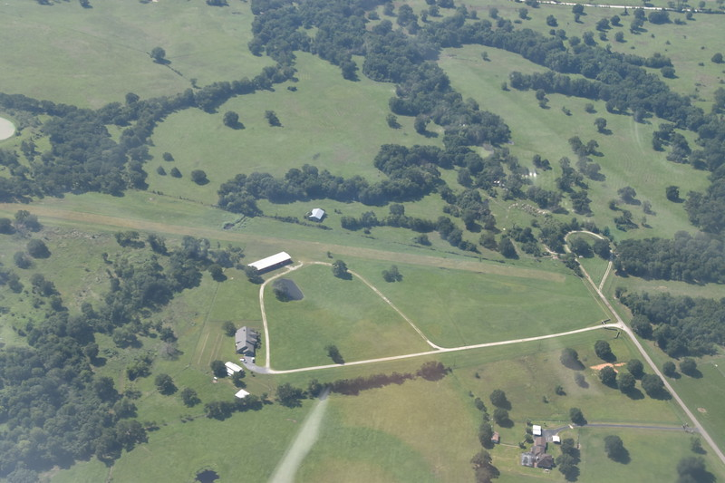 Wanda's ranch and runway from above