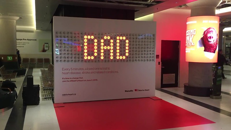 Heart and Stroke Foundation Clock Wall