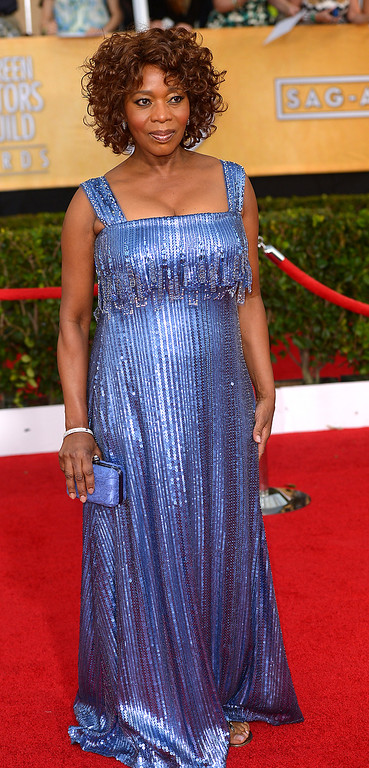 . Alfre Woodard arrives at the 20th Annual Screen Actors Guild Awards  at the Shrine Auditorium in Los Angeles, California on Saturday January 18, 2014 (Photo by Michael Owen Baker / Los Angeles Daily News)