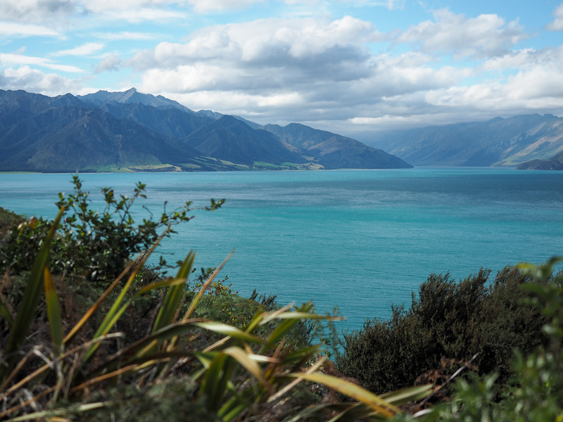 Lake Hawea in New Zealand