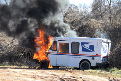 USPS Mail Van Fire