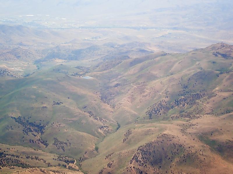 Jumbo and Ophir trails, reservoir