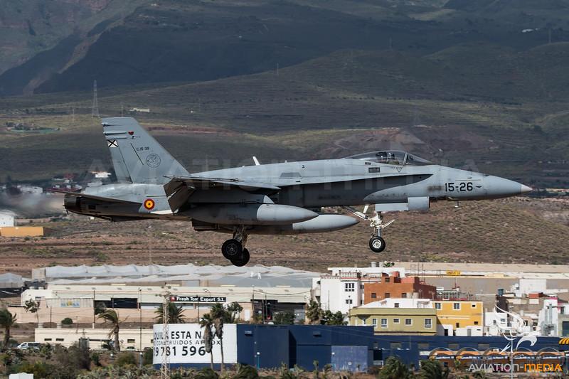 Spanish Air Force ALA 15 / McDonnell Douglas EF-18A Hornet / C.15-39 15-26