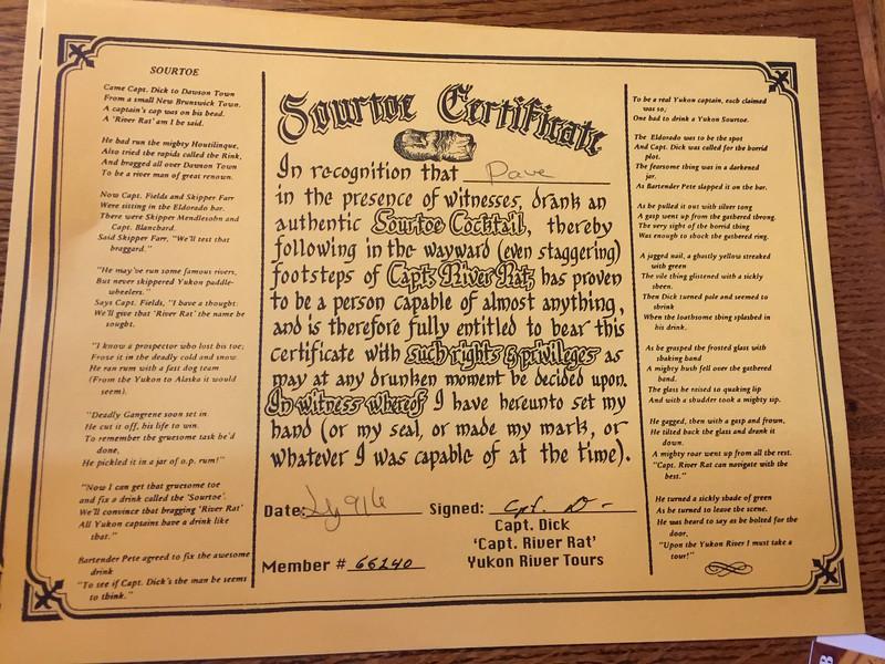 Sour Toe Cocktail Certificate.JPG