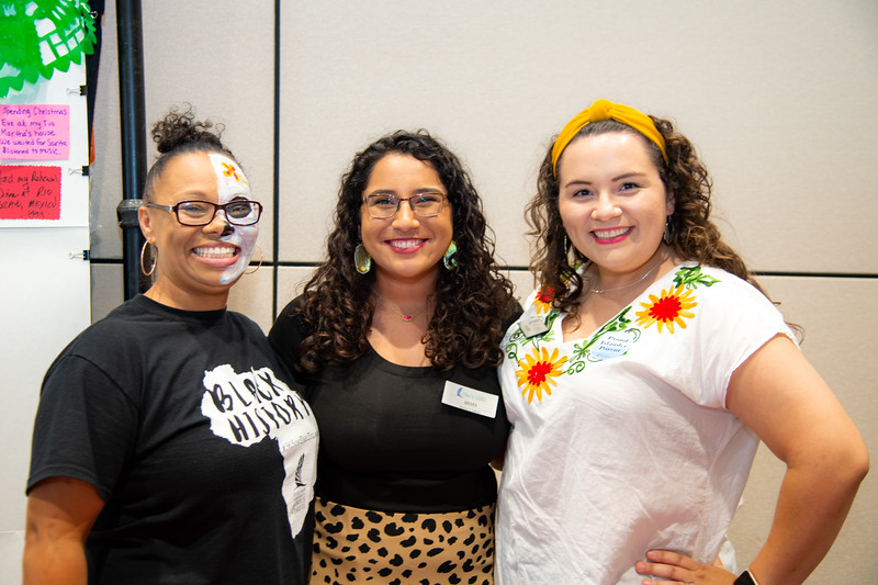 Deshawna Colvin (left), Ariana Rodriguez, and Anabel Roeder.