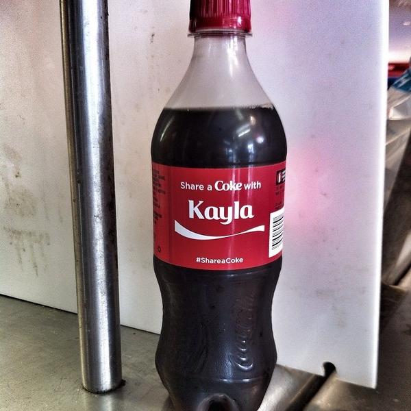 Sweetest bottle of Coke ever! #ShareaCoke cc @windycitymomma