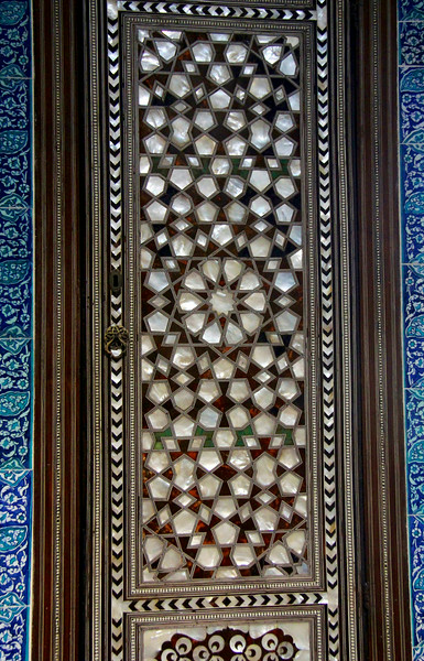 Mother-of-pearl inlay door at Topkapi Palace