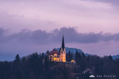 Homec church at dusk - Jan 31, 2018