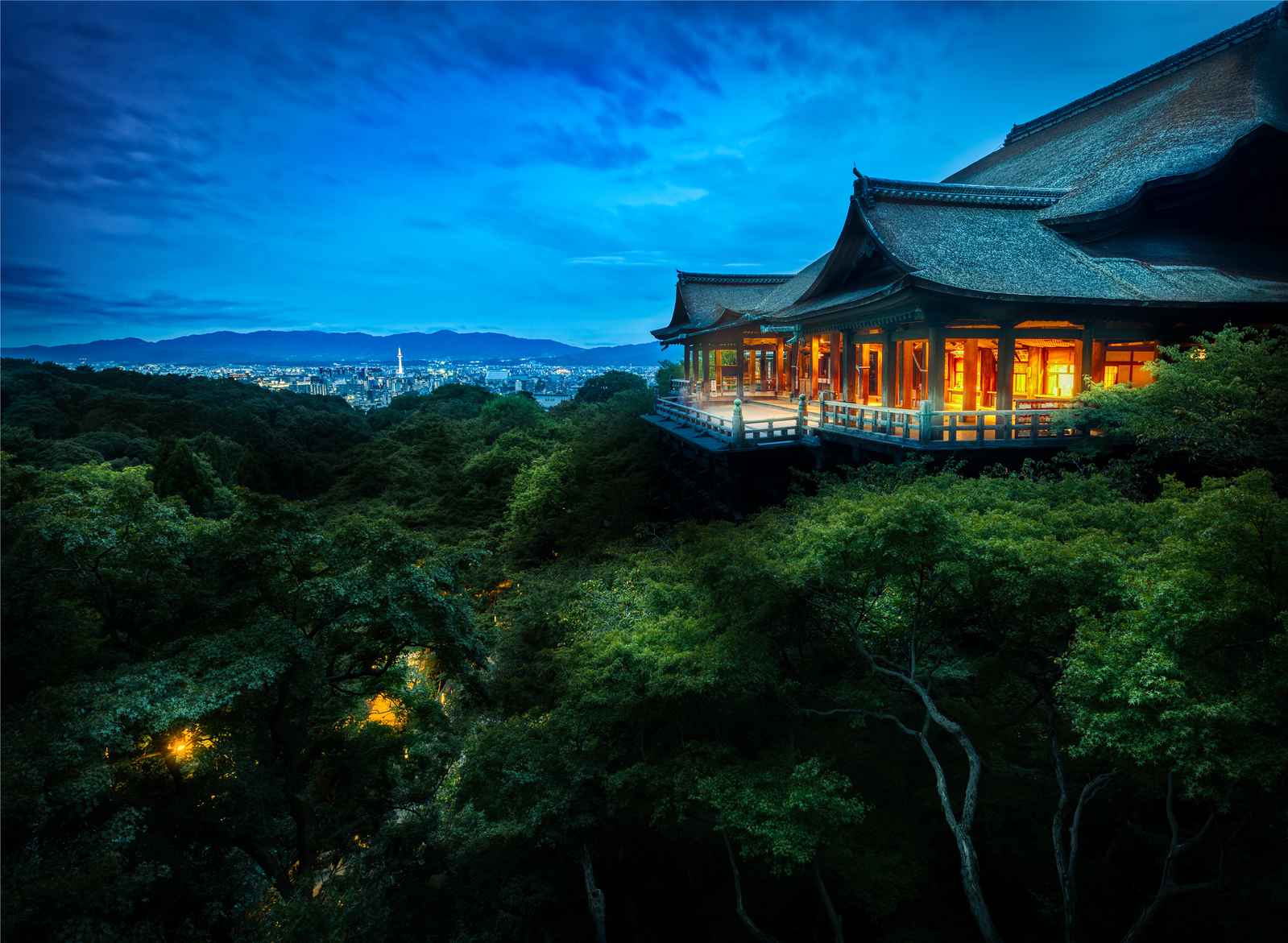 The Treetop Temple in Kyoto of Kiyomizu-dera