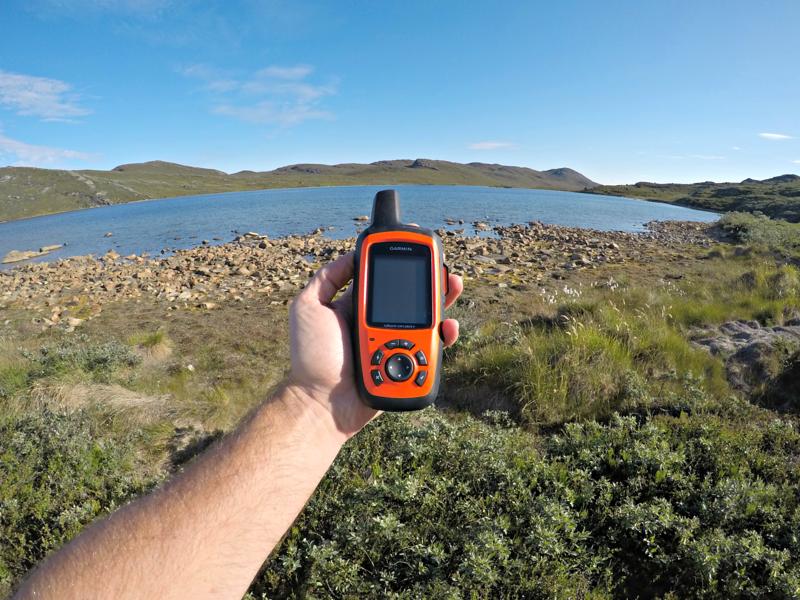 Garmin InReach being used in Greenland