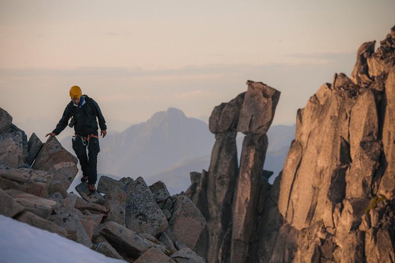 Mountaineering in Chilliwack, British Columbia.