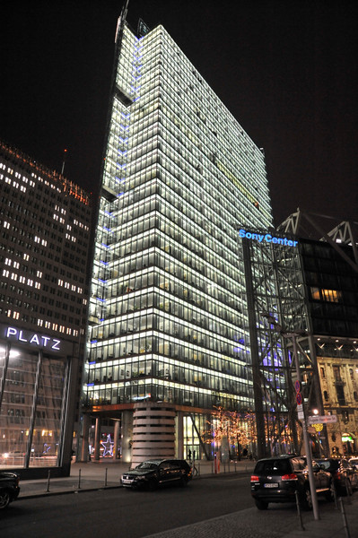 Front of the DB Building, Potsdamer Platz, Berlin.