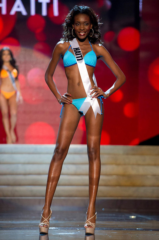 . Miss Haiti 2012 Christela Jacques competes during the Swimsuit Competition of the 2012 Miss Universe Presentation Show at PH Live in Las Vegas, Nevada December 13, 2012. The Miss Universe 2012 pageant will be held on December 19 at the Planet Hollywood Resort and Casino in Las Vegas. REUTERS/Darren Decker/Miss Universe Organization L.P/Handout