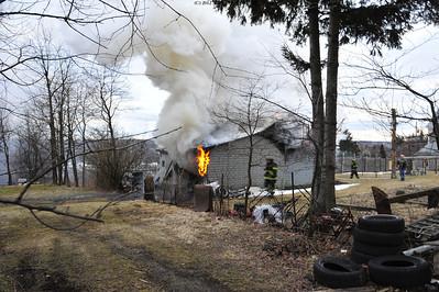 Garage fire 3rd & Thompson St. Hazle Twp 3-29-13