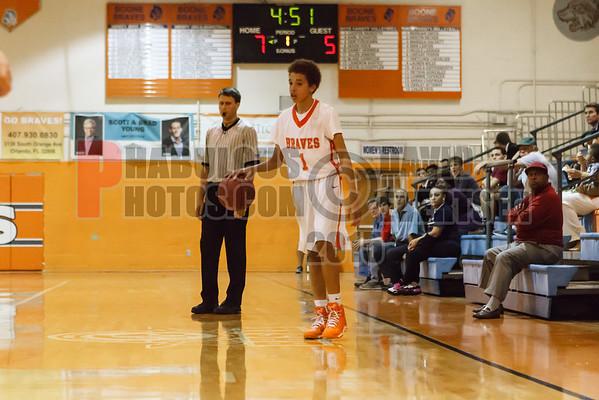 University Cougars @ Boone Braves Boys JV Basketball - 2015