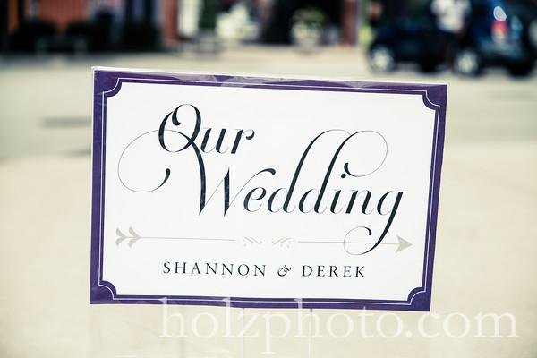 Shannon & Derek Creative Wedding Photos