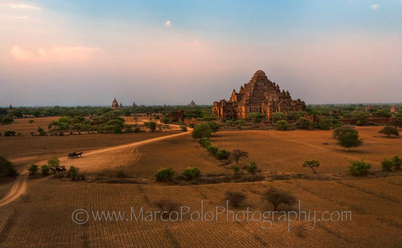 "Dhammayangyi Pahto Temple in Sunset. Bagan. 16"" x 10"""