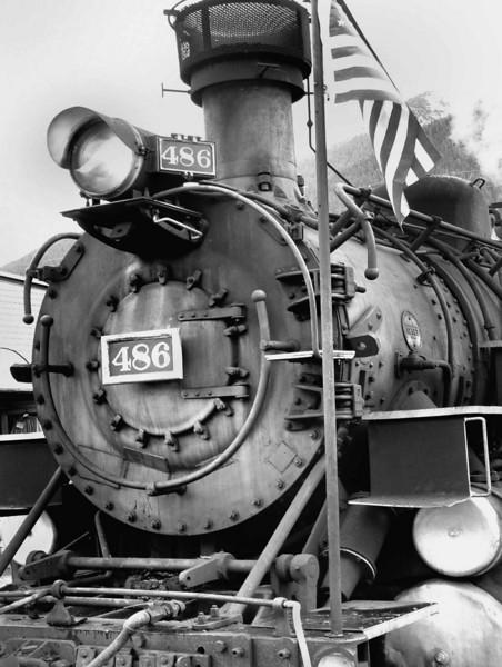 Steam engine train in Silverton, Colorado