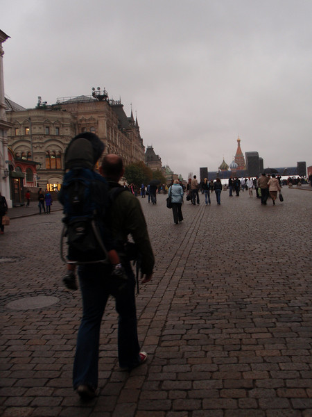 First steps inside Red Square