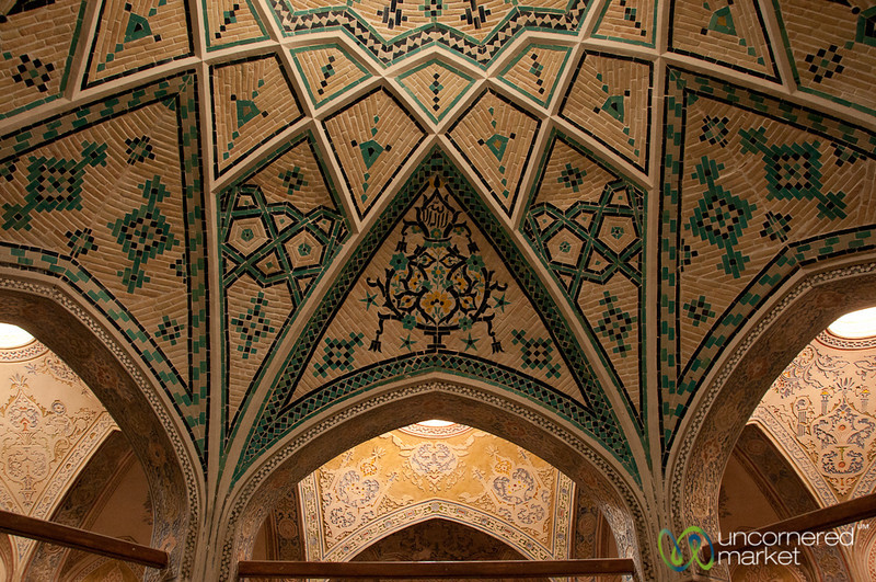 Ceiling at Khan-e Borujerdi Traditional House - Kashan, Iran
