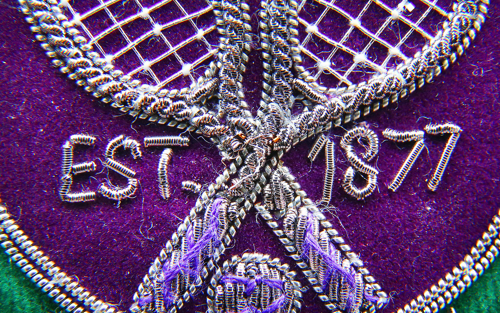 . LONDON, ENGLAND - JULY 02:  A close up photograph shows an umpire\'s blazer badge at the Wimbledon Lawn Tennis Championships on July 2, 2013 in London, England.  (Photo by Peter Macdiarmid/Getty Images)