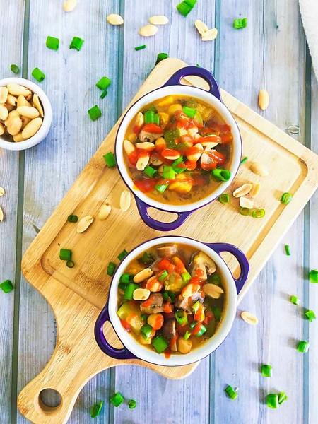 Instant pot Thai Peanut Chickpea Soup