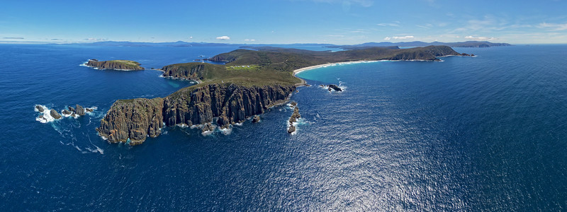 Cape Bruny - The end of the earth 65 images layered and stitched to make this panorama
