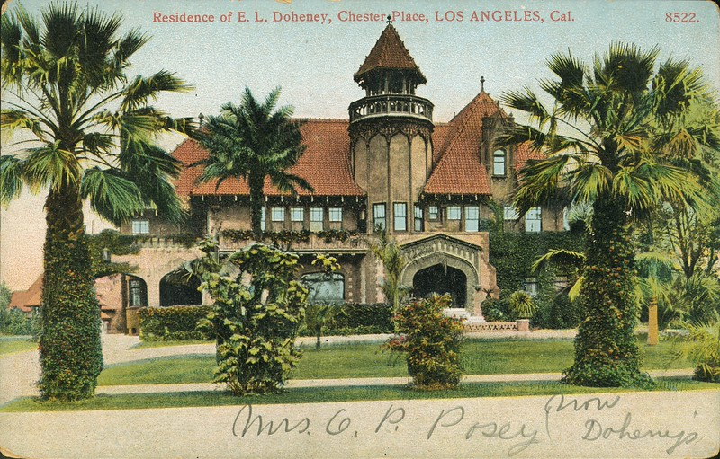 Residence of E.L. Doheney [sic], Chester Place, Los Angeles, California.
