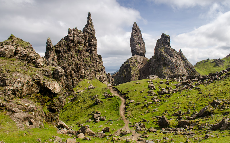 Footpath through the Old Man of Storr