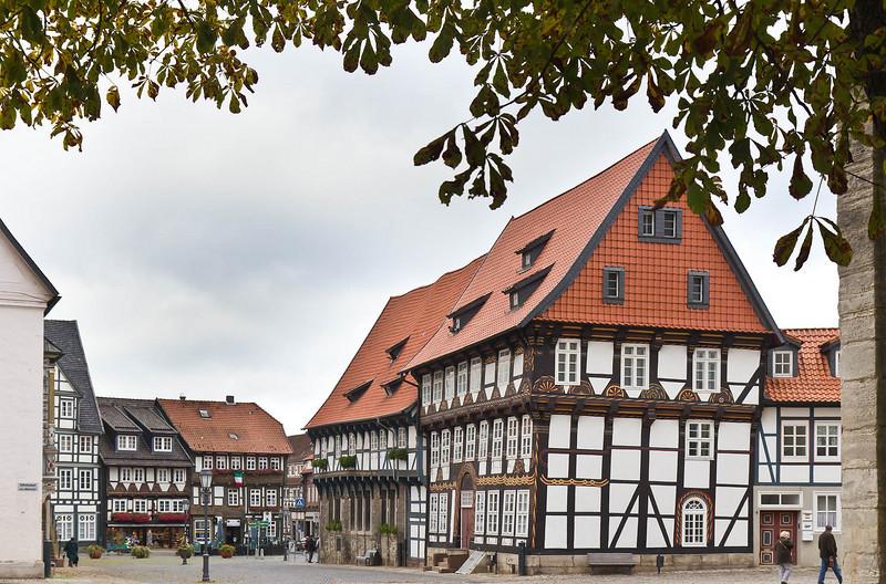 Gandersheim. Blick von Stiftskirche Richtung Stadt nach Westen