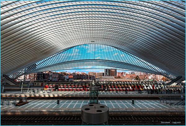 Liège (Belgique) - La gare des Guillemins