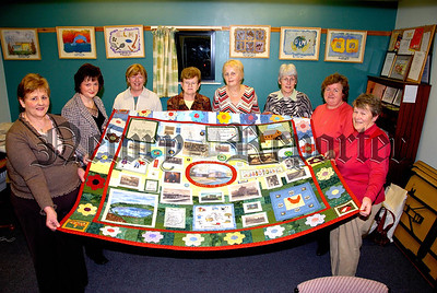 Members of Glenloughin, Loughgilly and Mountnorris Woman's Group presented a Patchwork Quilt to Glenloughin, Loughgilly and Mountnorris Community Development Association on Tuesday Evening. 06W47N252