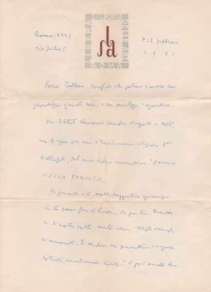 Francesco Sapori, 1962