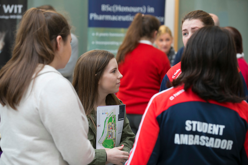 Pictured at the CAO Information Evening at WIT Main Campus. Picture: Patrick Browne  The event gave school leavers, parents, mature students a chance to learn more about areas of study they're interested in and learn about student life at WIT. The evening featured: lecturers were available to talk about specific course information; current students were on hand to talk about their college experiences; fees and grants and student supports information; chance to take a tour of the campus and facilities; book on-campus accommodation.   Elaine Larkin, PR Executive, WIT 051-845577