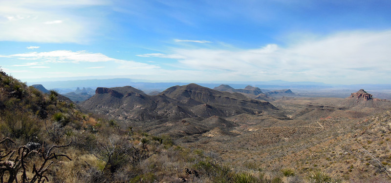 Panorama from the Dodson Trail about 2 miles from the Blue Creek trail junction and our cars!