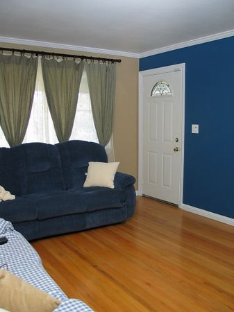 Living Room-before and after painting